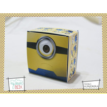 Souvenir Cumple Caja Alfajor Minions Villano Favorito