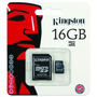 Memoria Micro Sd 16gb Kingston Hc Clase 4 Microsd Adaptador