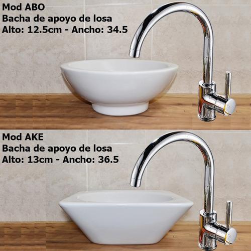 Bachas Blancas Para Baño:Bacha Loza Apoyo Vanitory Baño Porcelana Oferta Losa Blanca