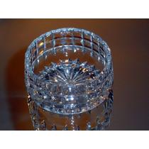Ensaladera Individual De Cristal Tallado A Mano Impecable