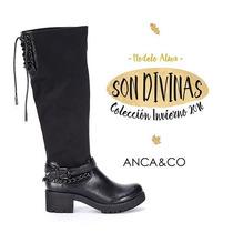 Botas Mujer Invierno Zapatos Anca Y Co Elastizada Alta Alma