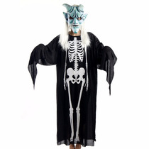 Disfraz Esqueleto Adulto Super Económico Halloween Terror X5