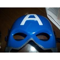 Mascara Del Capitan America De Plastico Duro