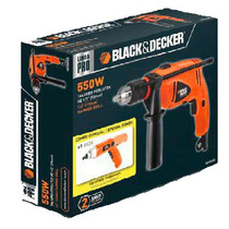 Taladro 13mm 550w + Atornillador Black And Decker Hd500sd