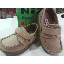 Zapatos Náuticos Cuero 100% Nene Varón Oferta 19/26 Abrojo