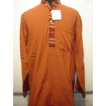 Camisa, Camisola. Hindu Artesanal C/vivo Y Bolsillo M/largas