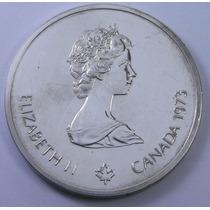 Gran Moneda Elizabeth 10 Dolares Plata Maciza Olympiade 1973