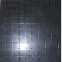 Piso De Goma En Baldosas Color Negro 3 Mm. Gimnasios, Cancha