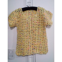 Chaleco / Sueter Artesanal Tejido Crochet - Nuevo - Talle M