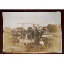 Fotografia Antigua Ensenada Argentina Puente Levadizo 1938