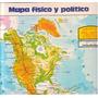 Lamina Revista Anteojito Mapa Fisico Y Politico + Leandro N
