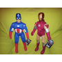 Super-heroes = Capitán América- Iron-man- Thor-