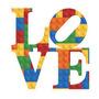 Vinilo Decorativo Love Lego. Medida Plancha 30x40cm
