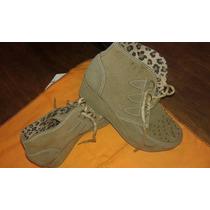 Botas Zapatos Nena Plataforma Borcego Nobuk Talle 30