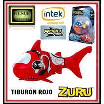 Robo Fish Pez Robotico Shark +2 Corales Intek Original De Tv