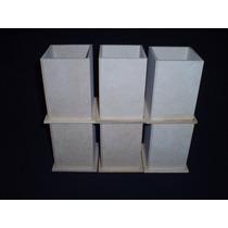 Lapiceros Fibrofacil Lisos 6x6x9 (10 Unidades) Maderarte