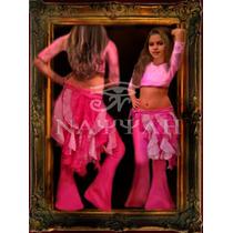 Pollera Bucles Para Niñas-danza Arabe -belly Dance-
