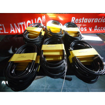 Los 6 Cables Comando En Negro Para Siambreta,lambretta, Iso