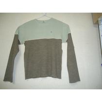 Sweater Lacoste Beige Con Marron Talle 48