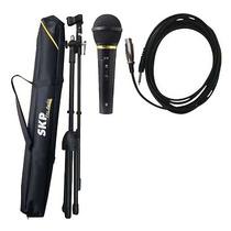 Microfono De Mano Skp Setm1 Dinamico Caroide Con Soporte