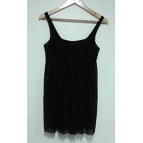 Vestido De Gasa Y Tul Color Negro Allo Martinez Talle 1