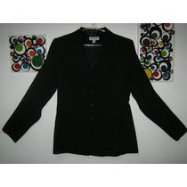Blazer Saco Negro De Marca Talle M O 2 - Impecable!!