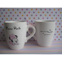 Tazas Mates Hornitos Alcancias Mickey Minnie Y Mas!! Ct