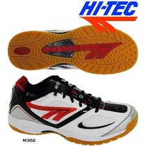 Zapatilla Squash Hi Tec M302 Indoor Voley Handball No Adidas