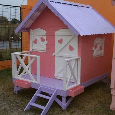 Casita infantil de madera 1 2 punto maderera magali - Casa infantiles de madera ...
