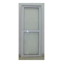 Puerta Aluminio Exterior Vidrio Con Travesanio 80x200