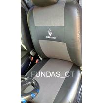 Funda Asiento Simil Cuero Logo Bordado Renault 11