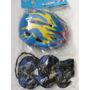 Kit De Protectores Niños Rollers, Skate Casco+protecciones