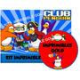 Kit Imprimible Club Penguin Invitaciones + Muchas Golosinas