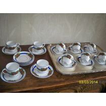 Exquisito Juego Café Limoges P/ 10 Personas Art Deco