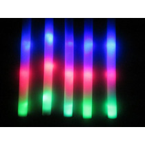 10 Barras De Goma Espuma Led 1 Multicolor Cotillon Luminoso