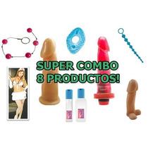 Consolador + Vibrador + Disfraz - Combo 8 Productos