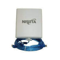 Antena Wifi Exterior Cpe Nisuta - Wiucpe310 - Cable 9,5 Mts