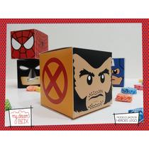 Souvenir Eventos Cumpleaños Caja Lego Wolverine Logan X Men