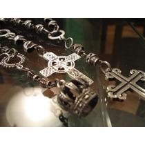 Rosarios De Calaveras Con Cruces O Amuletos (bronce)