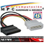 Adaptador Molex A Sata Power Cable De Energia Netmak Nm-c05