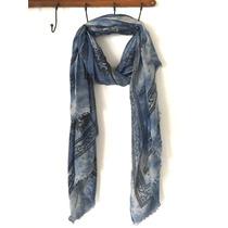 Pañuelo Puppis Azul Pareo Playa Batik Rectang Estampado