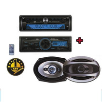 Autoestereo Mp3 Usb Sd Frente Desmtable+ 2 Parlantes 1200wts