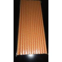 Sorbete Papel Colores X25 Naranja