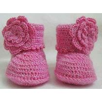 Botitas Escarpine Tejida A Crochet De 0a 1 Año X Mayor Y Men