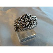 Anillo Harley Davidson Plata 925(ojo De Mar)