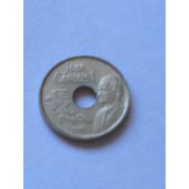 Moneda De España 25 Pesetas Barcelona