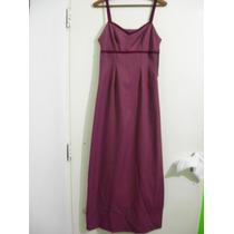 Vestido Noche Fiesta Preat Porte Diseño Purpura T S Regalo