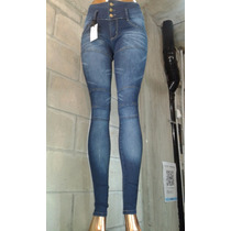 Jeans Nina X Mayor Cintura Ancha Recortes 5 U. X $ 1350
