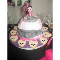 Torta Barbie, Princesa, Monster Con Muñeca
