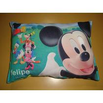 Almohadoncitos Souvenirs Con Nombre Y Foto. Minnie Y Mickey!